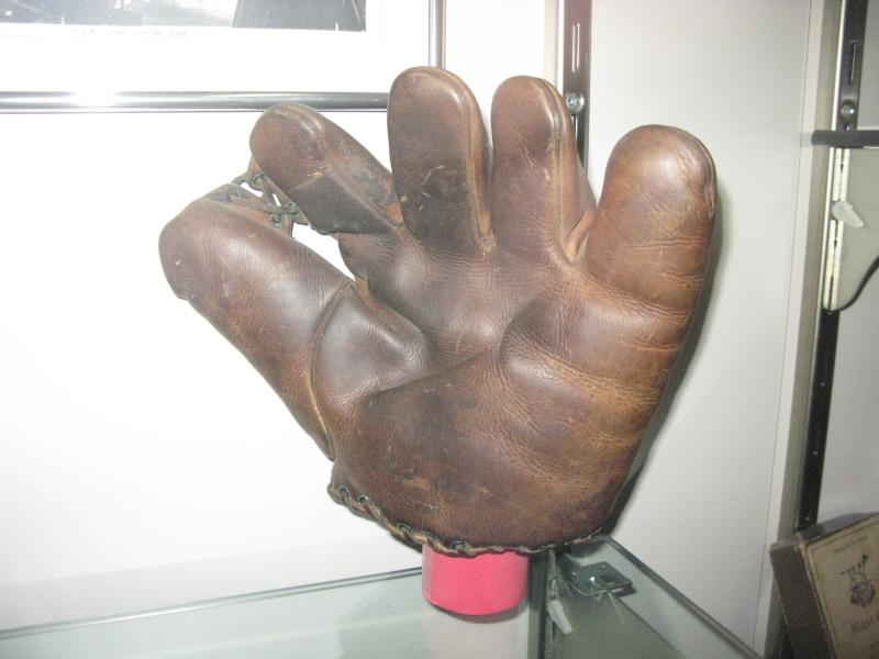 An early baseball glove made at the Draper and Maynard Company