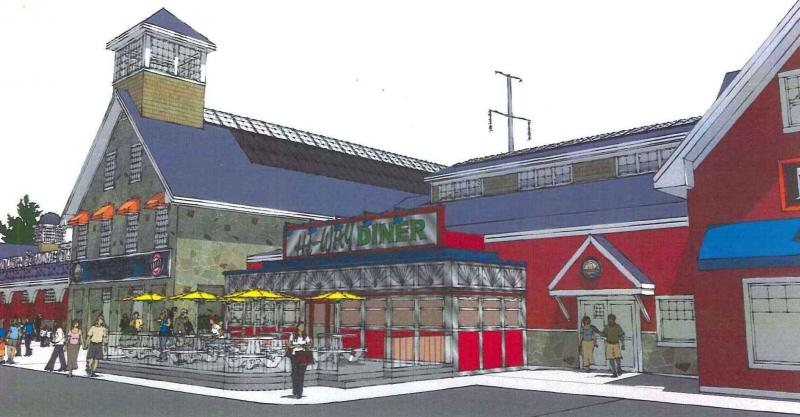 An artist's rendering of the new Hooksett Welcome Center.