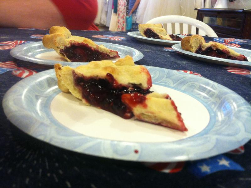 Bumbleberry pie from Maple Lane Farm.