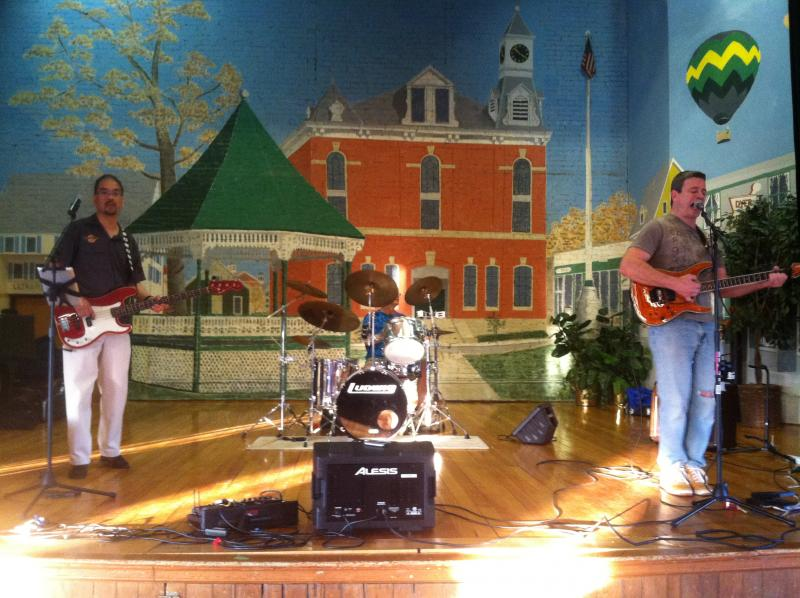 The band Groov'n entertained Taste of Milford attendees in the Milford Town Hall auditorium.
