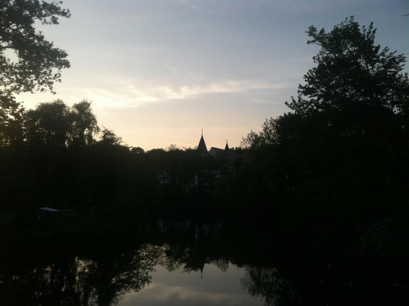 After we finished eating, my fiancee and I enjoyed a walk along a bridge over the Souhegan River and took in a beautiful sunset.