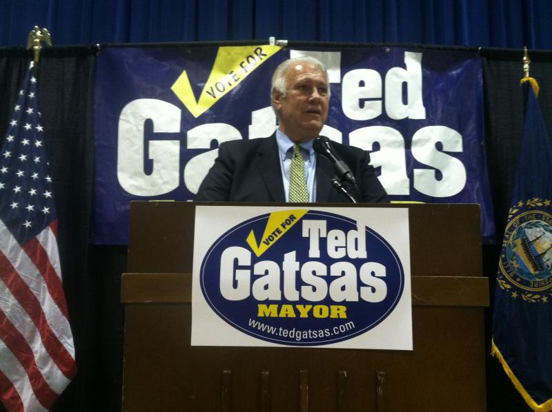 Manchester Mayor Ted Gatsas at his campaign fundraiser last week.