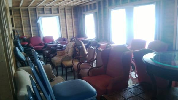 Dozens of chairs will be for sale at the Mountain View Grand Resort tag sale on Sunday.