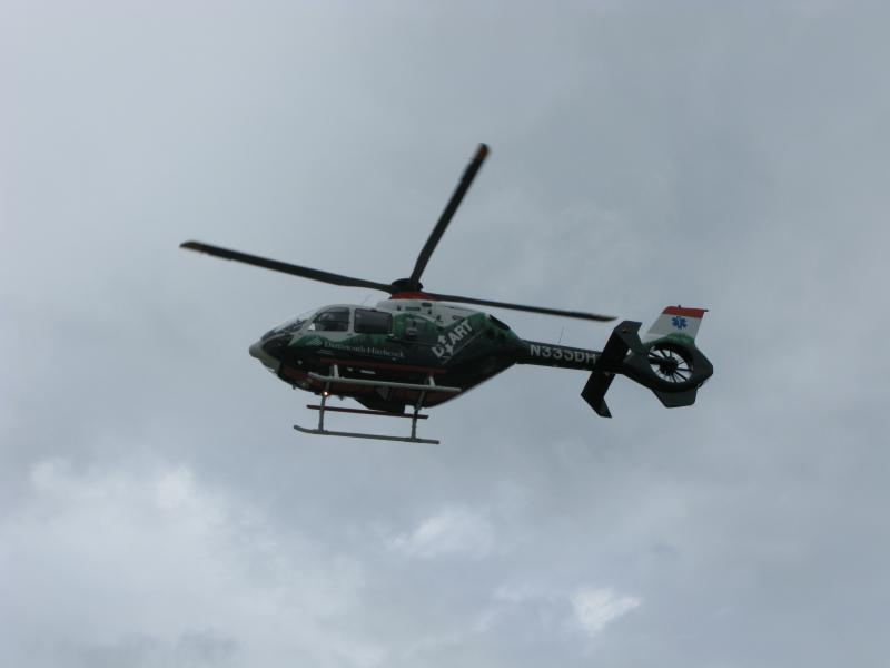 The unit is airborn, running one of its 1,400 annual calls across Vermont and New Hampshire.