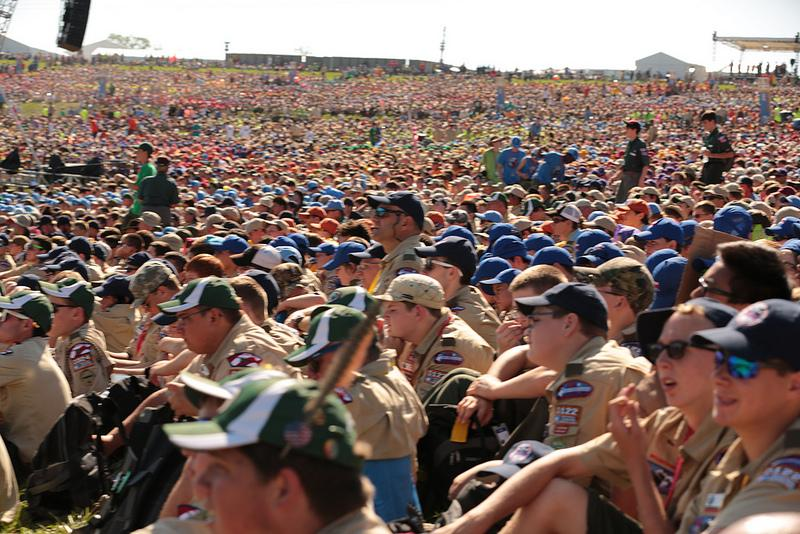 Tens of thousands of Scouts descended on The Summit for the 2013 Jamboree