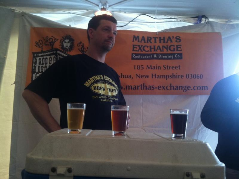 Martha's Exchange of Nashua at the Southern New Hampshire Brewery Festival in Hooksett.