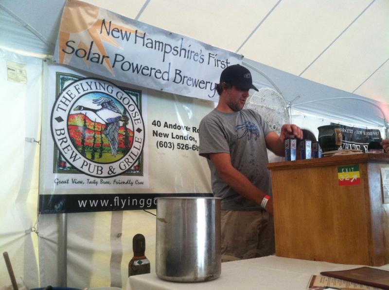The Flying Goose brewery is the state's first solar-powered brewery.