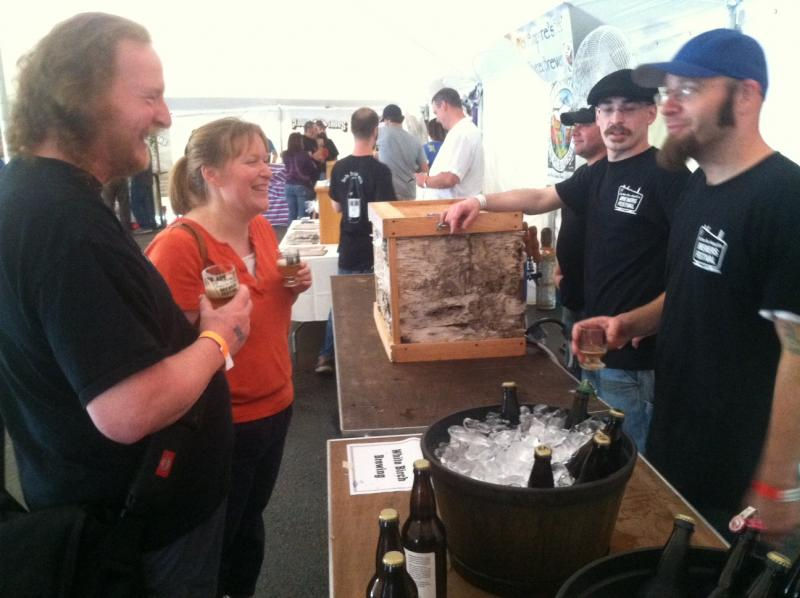 Frank and Tonya Dolan of Londonderry sample beers at the White Birch Brewery booth at the Southern New Hampshire Brewery Festival.