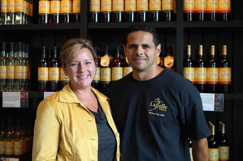 Amy LaBelle and Cesar Arboleda of LaBelle Winery.