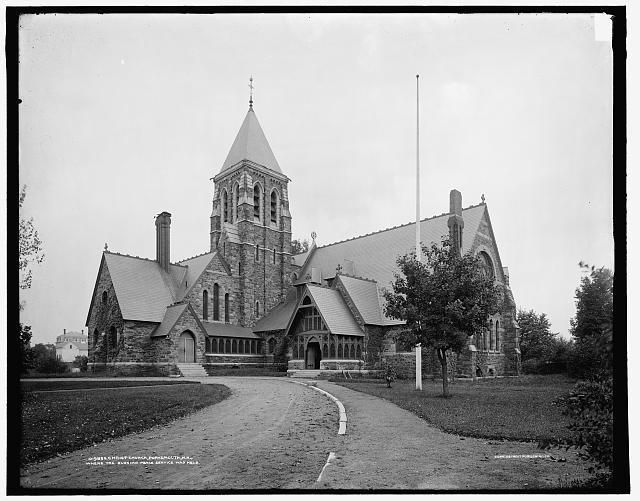 Christ Church, Portsmouth, N.H., where the Russian peace service was held