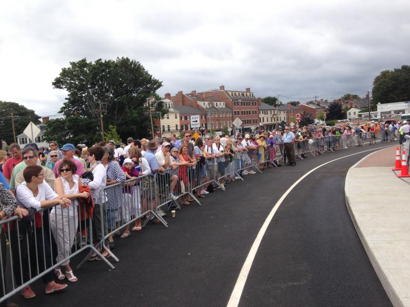 A huge crowd turned out for the opening ceremony in Portsmouth on Thursday.