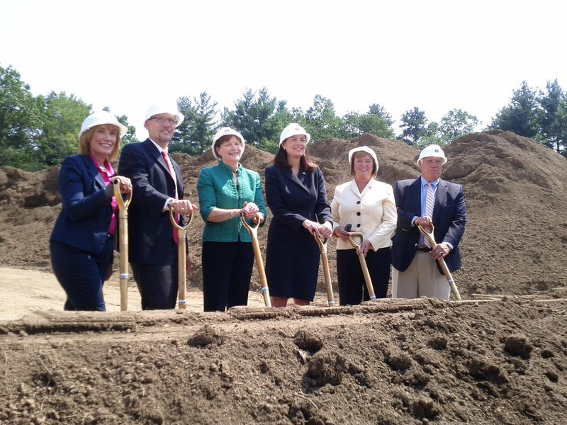 From left, Governor Maggie Hassan, Labor Secretary Thomas Perez, Senator Jeanne Shaheen, Senator Kelly Ayotte, Congresswoman Carol Shea-Porter, Manchester Mayor Ted Gatsas