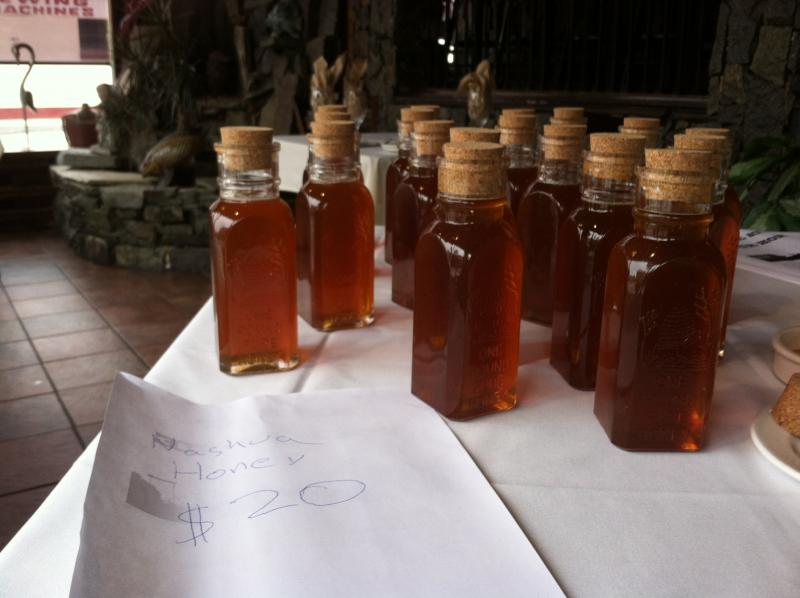Kagen Weeks' honey was for sale at the Farmers Dinner.
