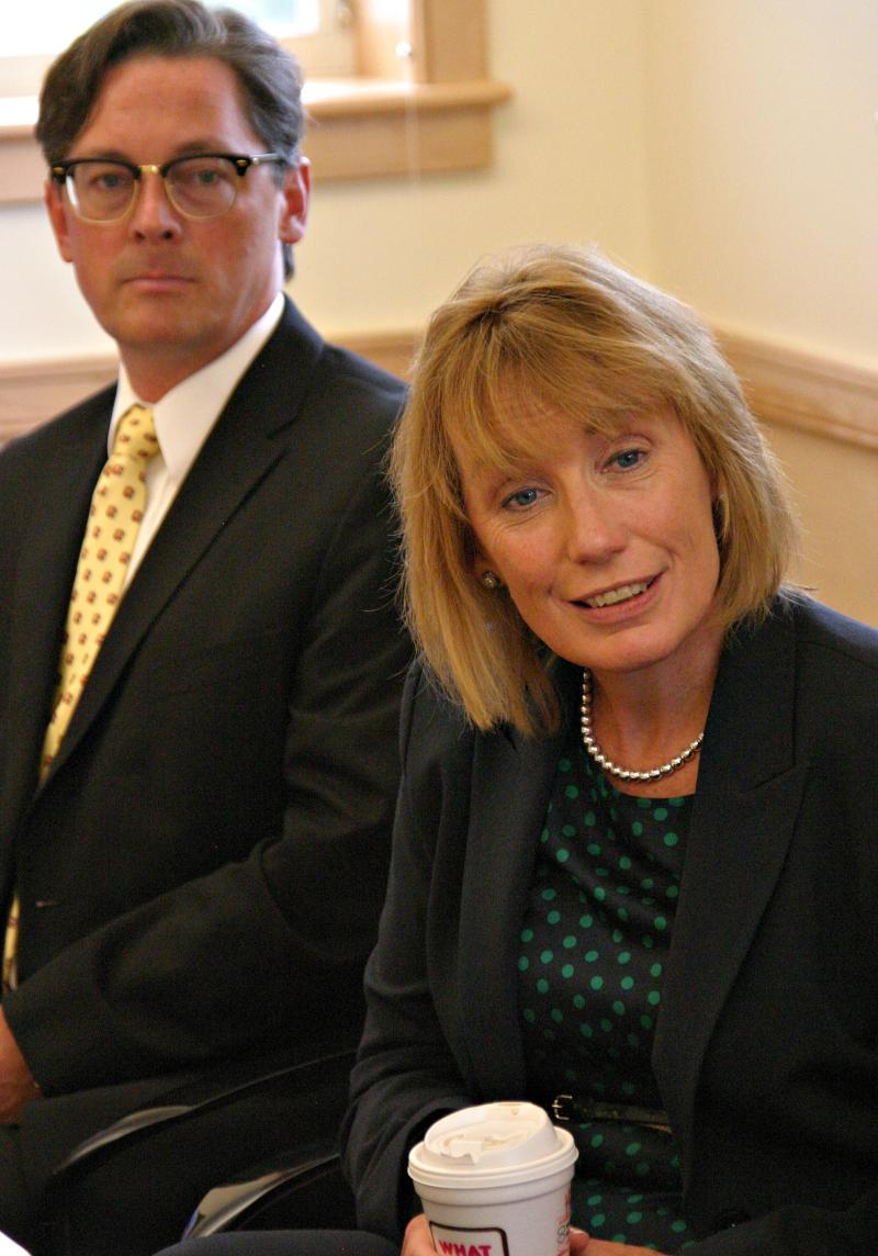 Edward Shanshala, executive director of Ammonoosuc Community Health Services, and Gov. Hassan