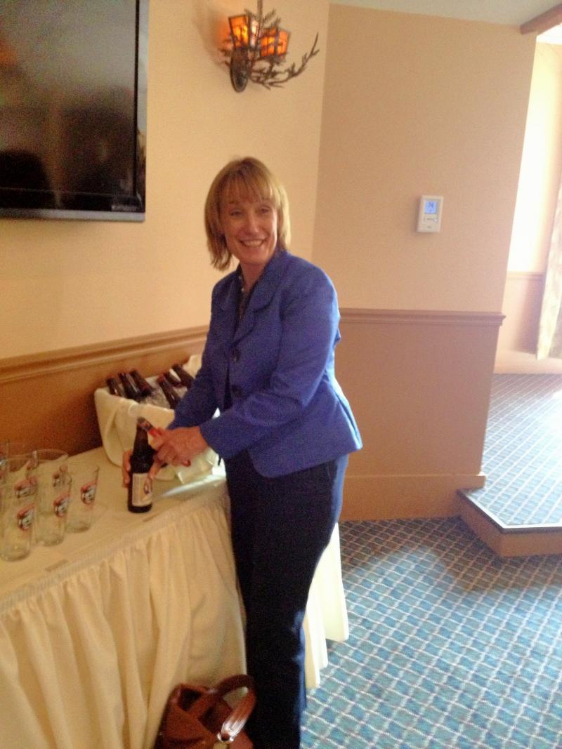 The Governor with her namesake beer.