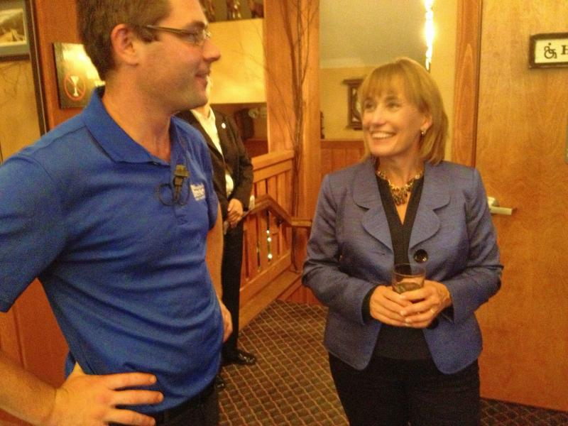 Governor Hassan and Keegan Rice of the Woodstock Inn Brewery