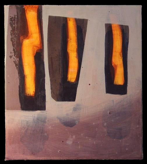 One of Scala's paintings, I Kept Them Burning.