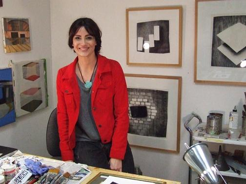 Catherine Scala in her studio at 3S Artspace