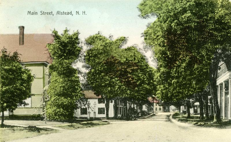 Archive photo of Alstead Main Street circa 1910