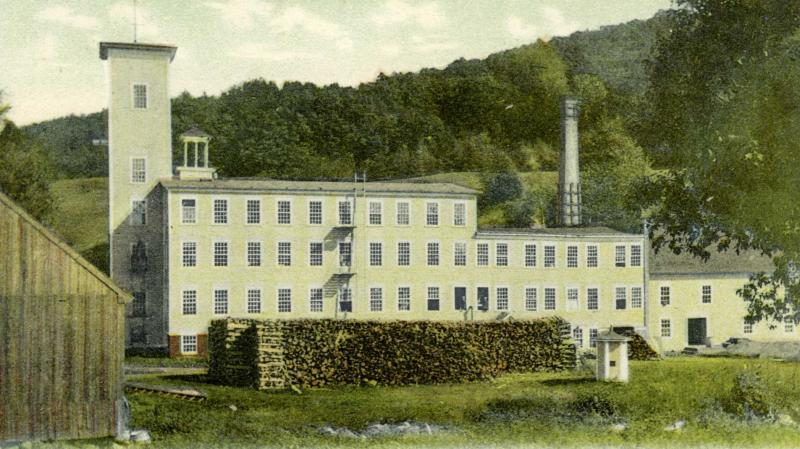 Archive photo of Collins Woolen Mill Gilsum Village c 1900