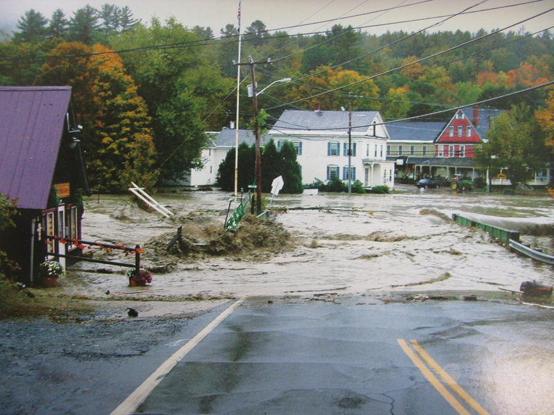 Archive photo of the Flooding of Alstead, October 2005