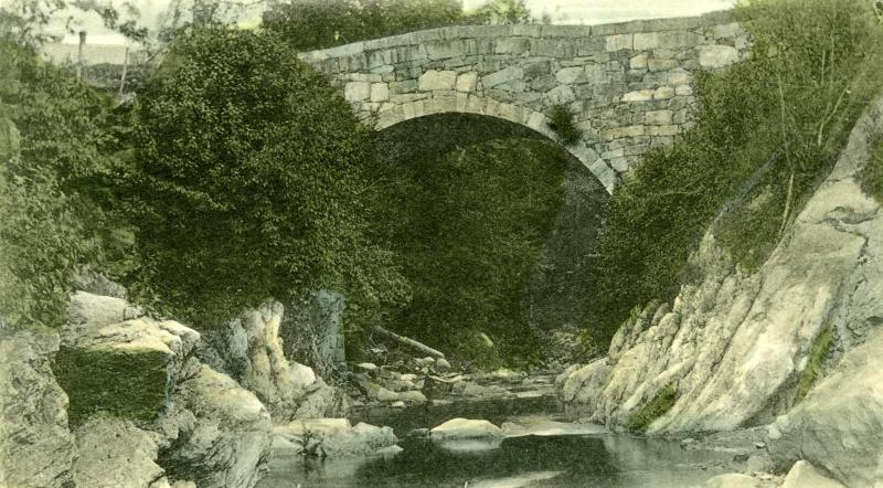 Old archive photo of the Stone Arch Bridge in Gilsum