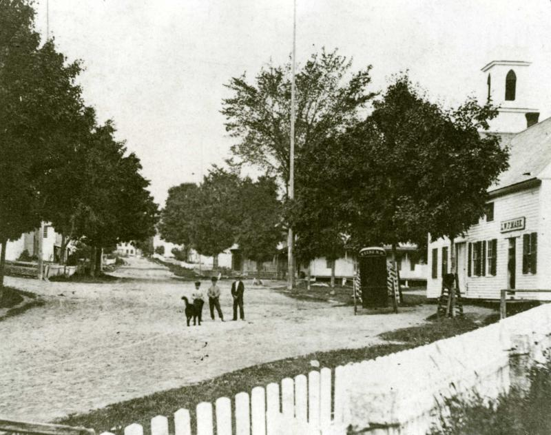 Archive photo of Gilsum village in the 1870s