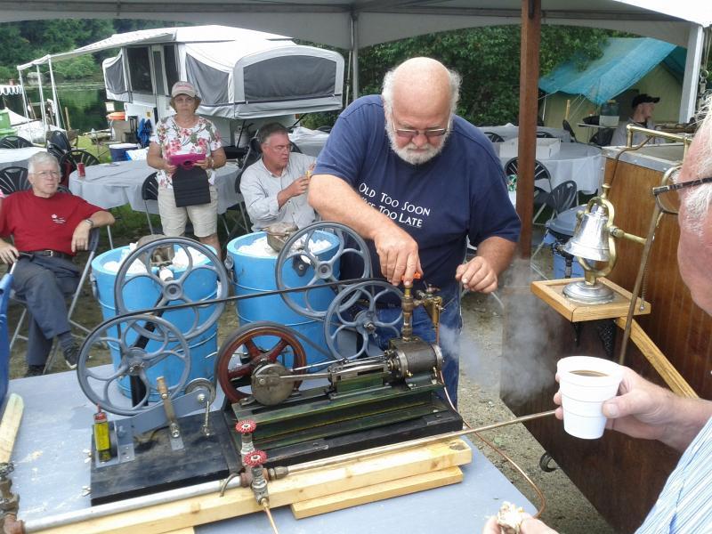 Legates and his steam cream machine.
