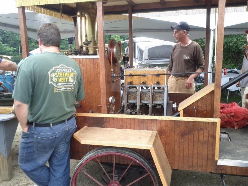 The steam truck that powers the steam cream machine.