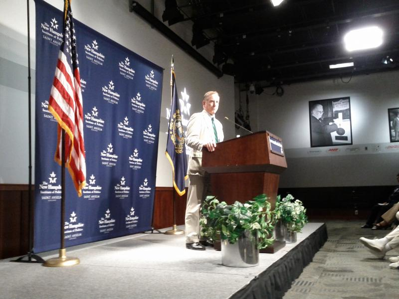 Howard Dean speaking at St. Anselm's Institute of Politics.