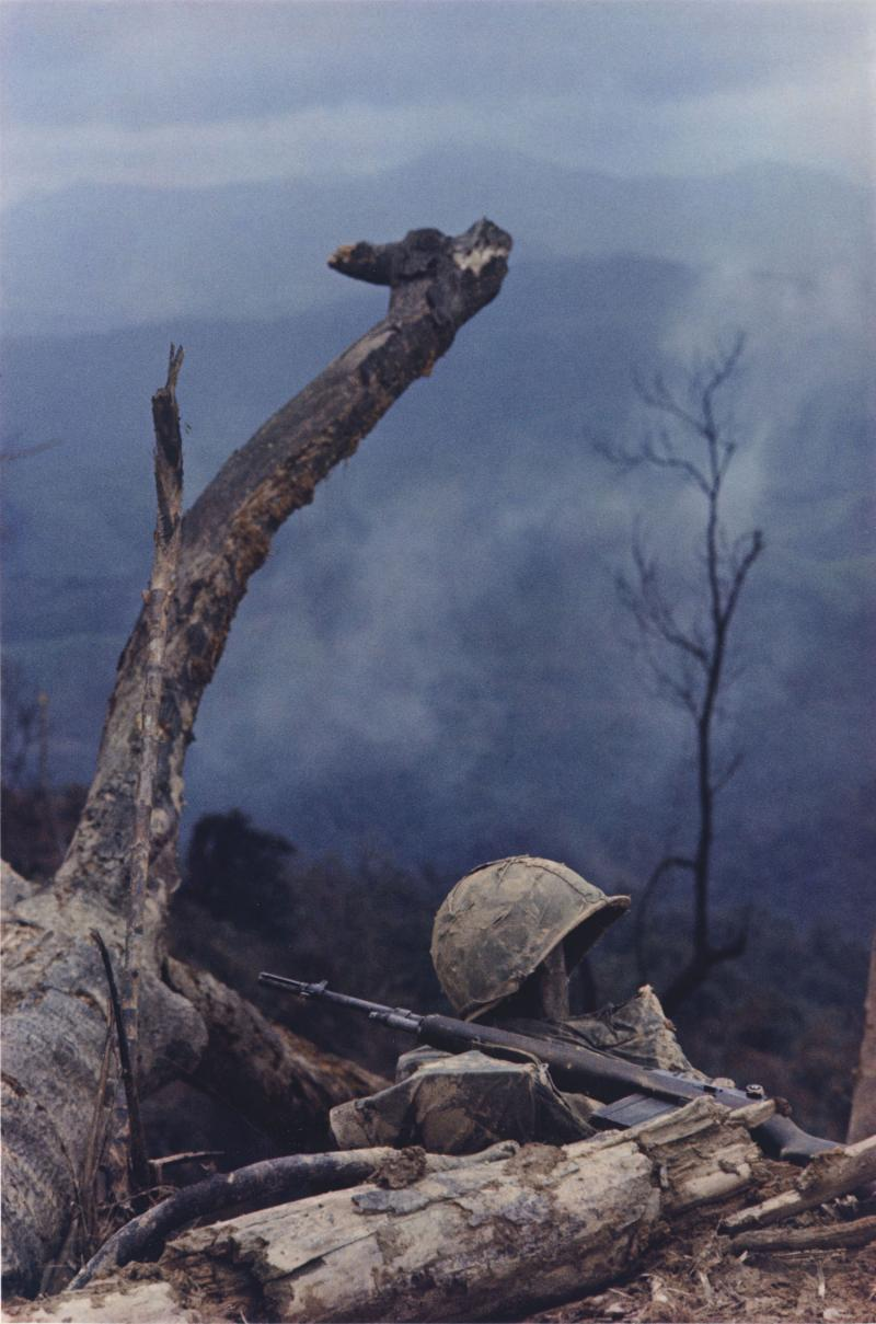 Hill 484, Operation Prairie, October 1966, 1966 (printed c. 1985), dye-transfer print, 19 ½ x 15 in. Currier Museum of Art, Manchester, NH.