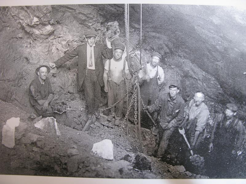 Archive photo of miners in Alstead