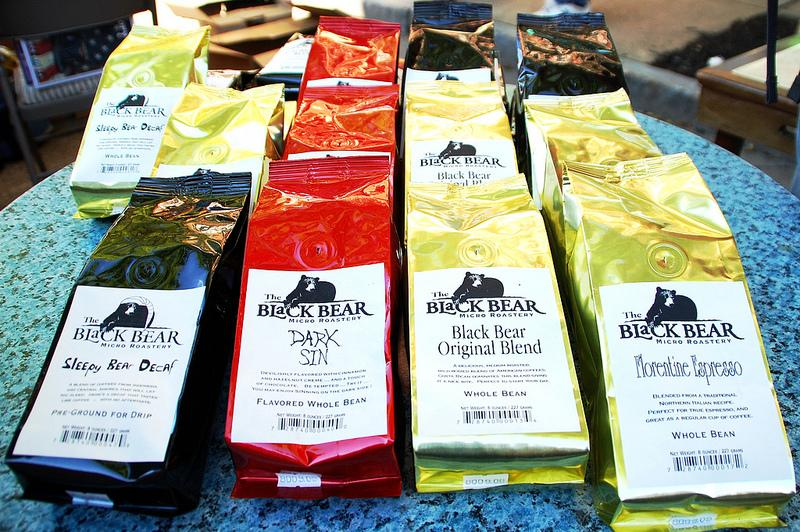 A collection of coffees from Black Bear Micro Roastery at the New Hampshire Coffee Festival in Laconia.