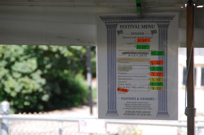 Greek favorites on the menu at Greek Fest at Taxiarchai Orthodox Church in Laconia.