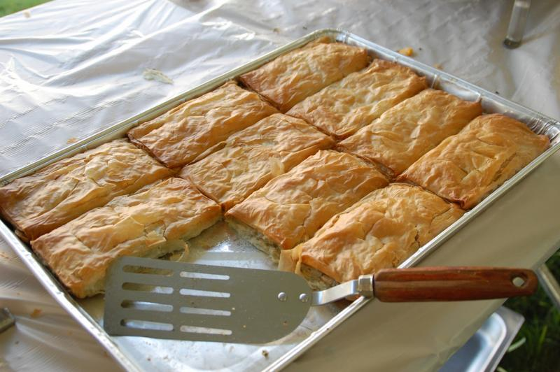 The traditional Greek favorite, as seen at the Greek Fest at Taxiarchai Orthodox Church in Laconia.