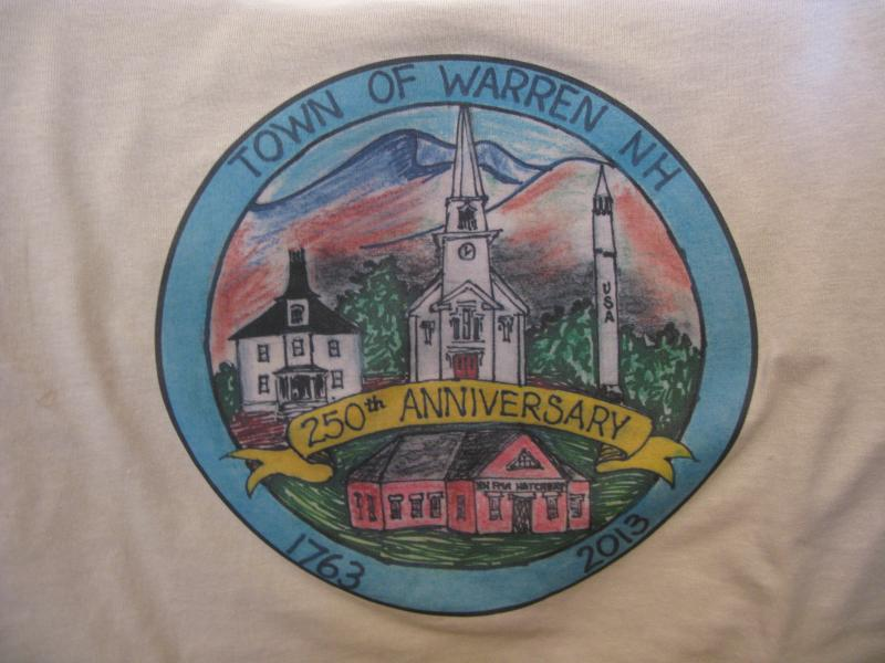 Handdrawn Crest made especially for Warren's 250th anniversary