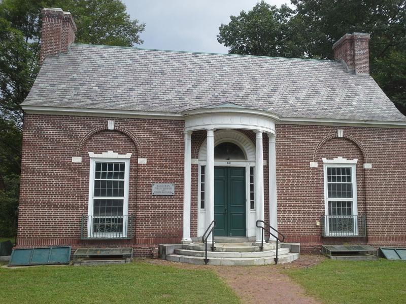 The Old Public Library in Boscawen has been vacant since the town opened a new library in 2006.  It was designed by Boston architect Guy Lowell and built in 1913 in the Colonial Revival style.