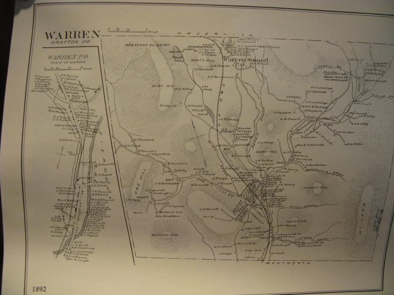 Old map of Warren, NH