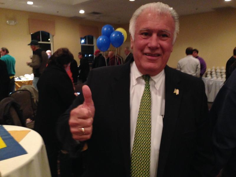 Mayor Ted Gatsas at his campaign HQ in Manchester's Derryfield Country Club.