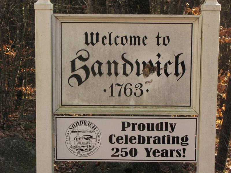 Sign welcoming you to Sandwich