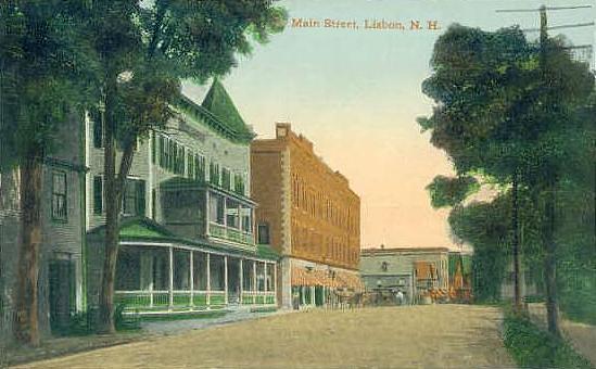 Archive old postcard of Main Street Lisbon