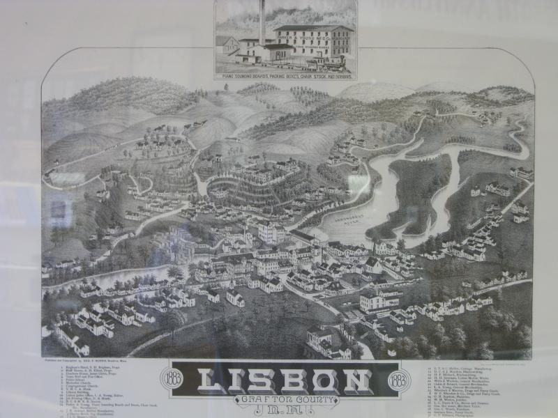 Old Map of Lisbon, NH