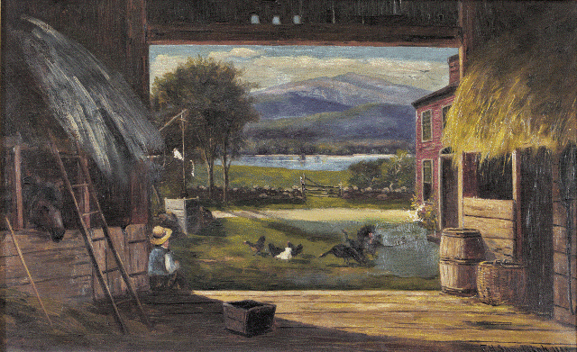 Old Barn in Bridgeton, NH 1883