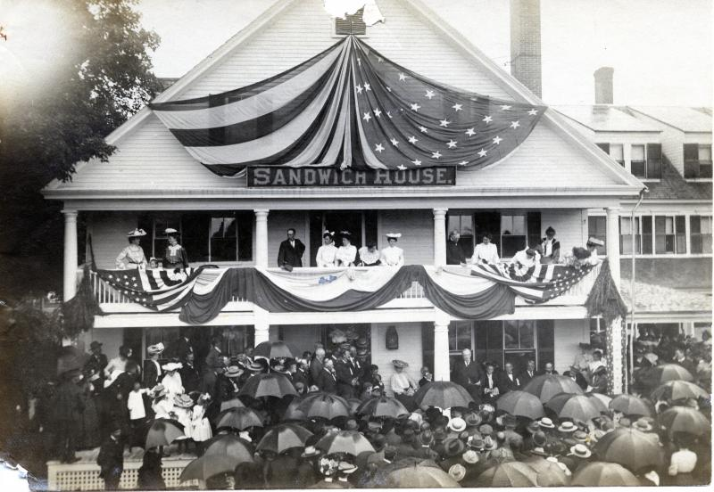 Town Common and Sandwich Home industries (with President Grover Cleveland) early 1900s