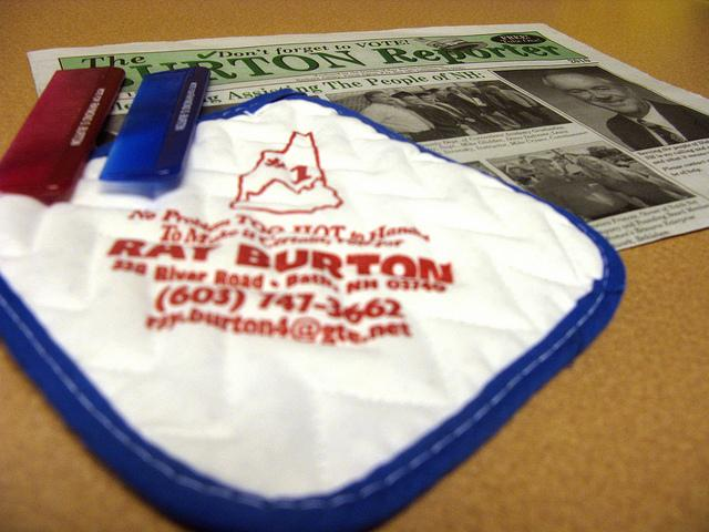 Memorabilia from Ray Burton's many campaigns for Executive Council.