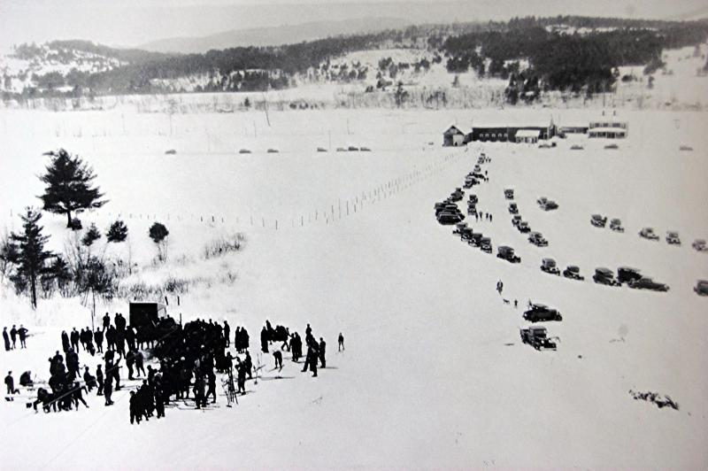 Archive photo of the ski rope tow in Lisbon. It was the first in New Hampshire