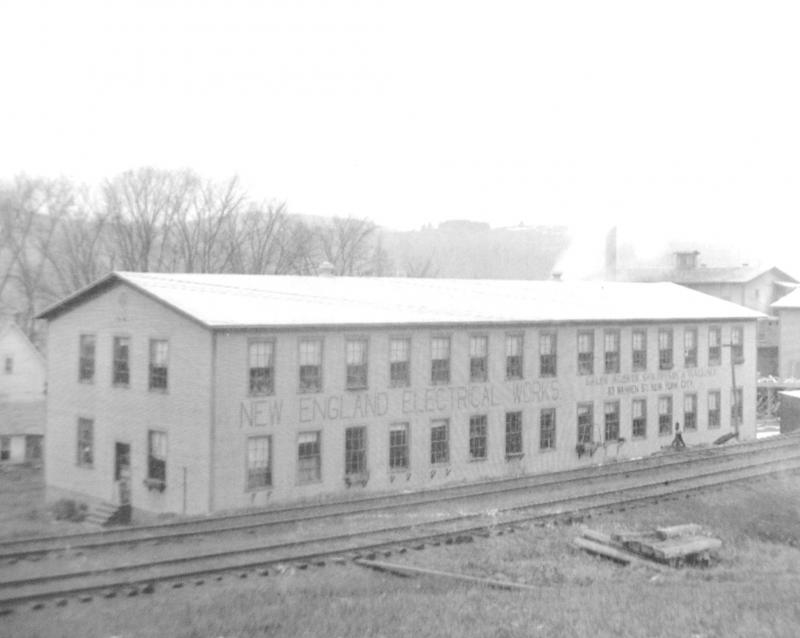 AArchive photo of the original building of the New England WIre Technologies Factory