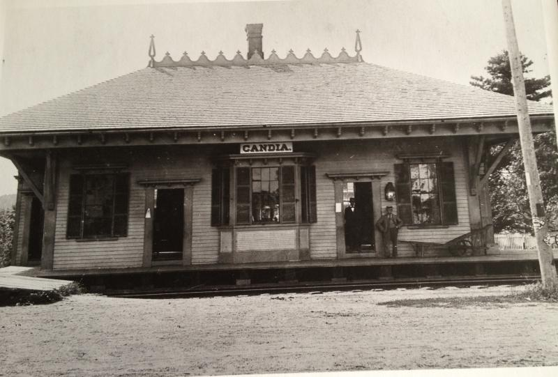 Old Train Depot on Main street in Candia