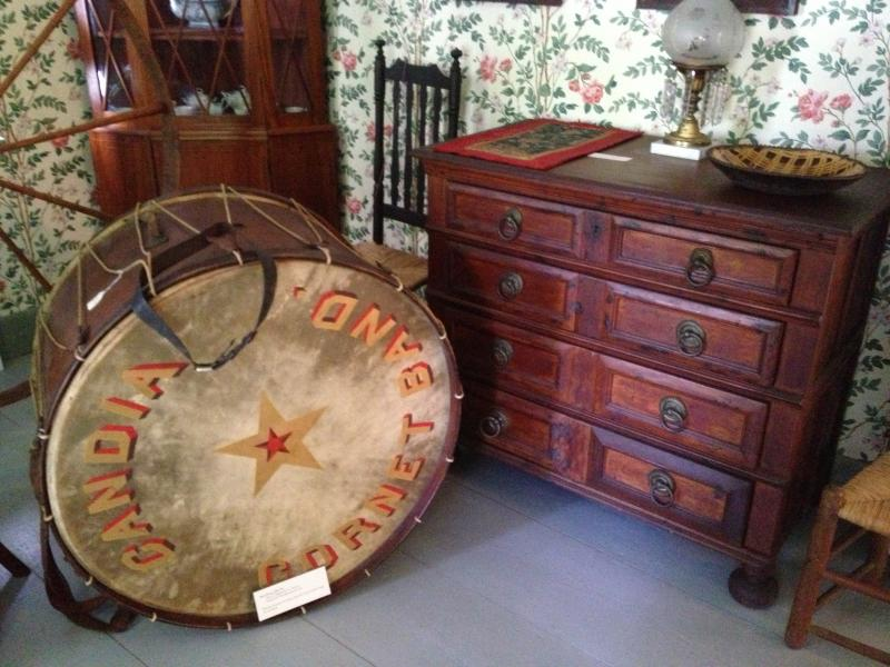 Old Dresser and Drum at the Fitts Museum in Candia