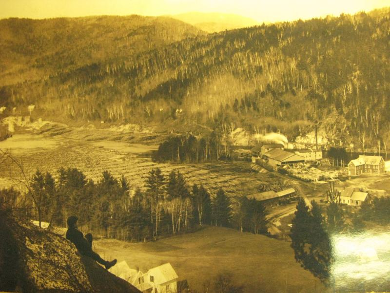 Photo showing the amount of logging that at one time was done in Woodstock